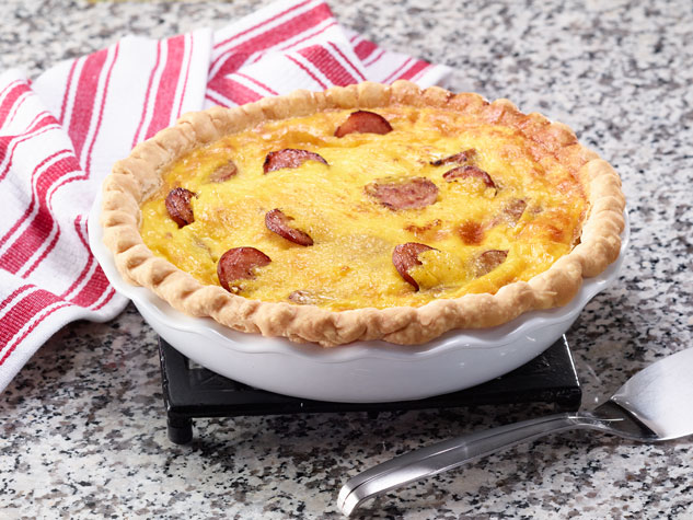 SIMPLE SMOKED SAUSAGE BREAKFAST QUICHE