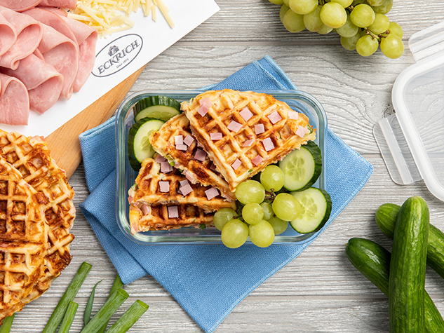 ham-and-cheddar-waffles